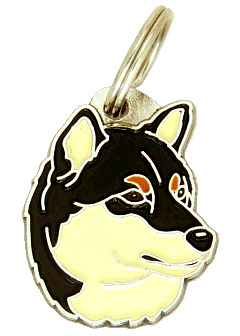 SHIBA INU TRICOLOR - pet ID tag, dog ID tags, pet tags, personalized pet tags MjavHov - engraved pet tags online